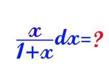 Math formula. Difficult math formula on white background Royalty Free Stock Photography