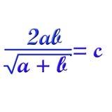 Math formula. Difficult math formula on white background Stock Images