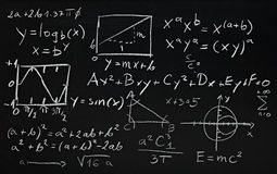 Math formulas Stock Image