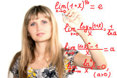 Math formulas Stock Photo