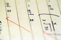 Math formulas and equations Stock Images