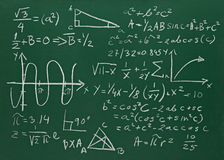 Math formulas on school blackboard education Royalty Free Stock Photo