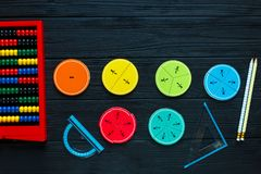Math fractions back to school royalty free stock photo