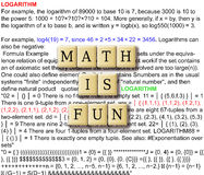 Math is fun. Abstract - with crossword puzzle illustration tile stock photos