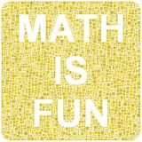 Math is fun background Stock Photography