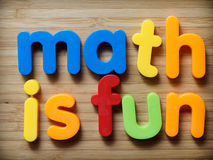 Math is fun concept. With toys Stock Image