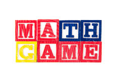 Math Game - Alphabet Baby Blocks on white Royalty Free Stock Photography