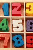 Math game for junior age with signs of number stock photo