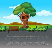Math game at playgound landscape royalty free illustration