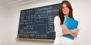 Math genius student Stock Image