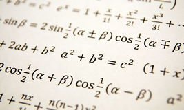 Math geometry background. With formulas, math, number equation Stock Image