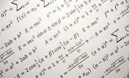 Math geometry background. With formulas, math, number equation Royalty Free Stock Photo