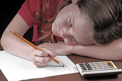 Math homework Royalty Free Stock Images