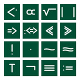 Math Icon Set 4. 16 icon set of mathematical symbols (function operators, group operators Stock Image