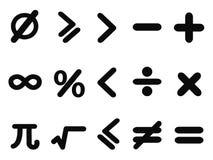Math icons set Stock Image