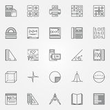 Math icons set Stock Image