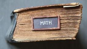 Math idea, for education industry stock video footage