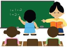 Math klassificerar royaltyfri illustrationer