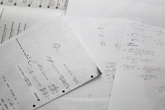 Math learn paper Royalty Free Stock Photos
