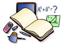 math learning  on isolated white background Stock Photo
