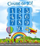 Math Lesson Count to 10. Illustration Stock Image