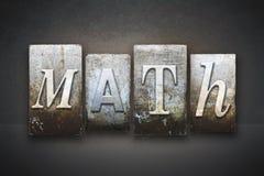 Math Letterpress Stock Images