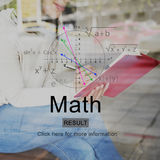 Math Mathematic Education Knowledge School Concept Stock Images