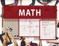 Math Mathematics Calculation Chart Concept Stock Image