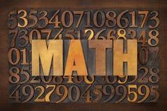 Free Math (mathematics) Word Royalty Free Stock Photo - 37860245