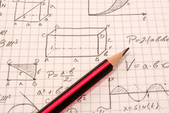 Math notebook Royalty Free Stock Image
