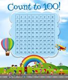 Math Number Count to 100 royalty free illustration
