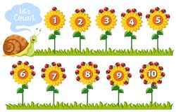 Free Math Number On Flowers Stock Photography - 121991172