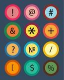 math numrerar symboler stock illustrationer