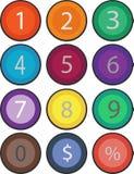 math numrerar symboler royaltyfri illustrationer