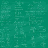 Math och Chalkboard background. Stock Photography