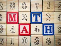 Math och nummer Arkivfoto