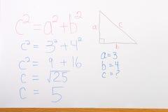 Math op Whiteboard Stock Foto