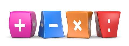 Math Operators Funny Cubes Stock Photos
