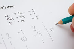 Math problem Royalty Free Stock Photo