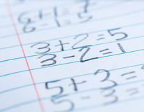 Math problems Stock Image