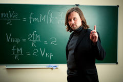 Math professor Royalty Free Stock Photos