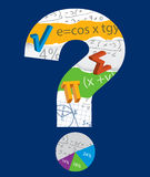 Math question mark. Royalty Free Stock Photo
