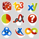 Math related symbols Stock Image