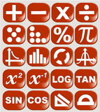 Math related symbols Stock Photography
