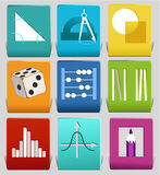 Math related symbols Stock Photos