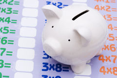 Math and savings Stock Image