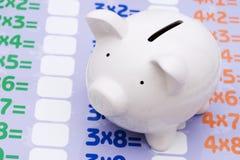 Math and savings Stock Image