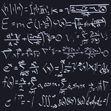 Math and Science Formulas Stock Images