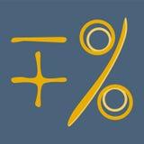 Math symbols, plus, minus, percentage Stock Photo