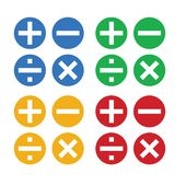 Math symbols vector and Math icons royalty free illustration